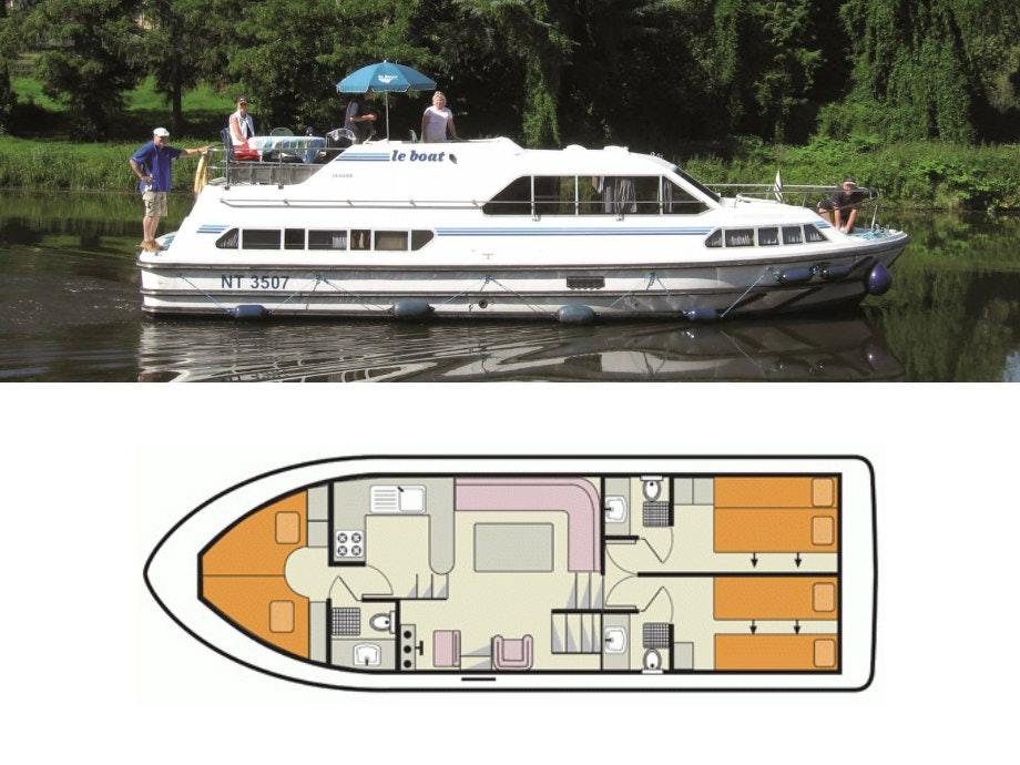plattegrond en foto Crusader Le Boat