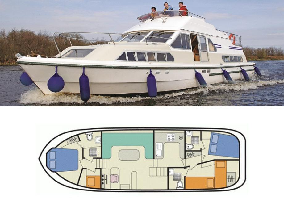 plattegrond en foto Shannon Star Le Boat