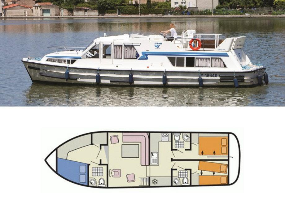 plattegrond en foto Continentale Le Boat