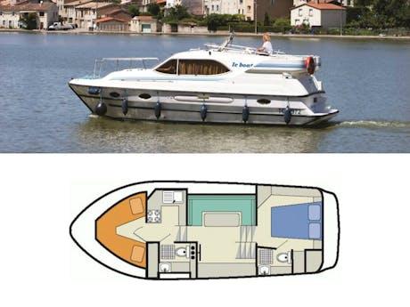 plattegrond en foto Countess Le Boat