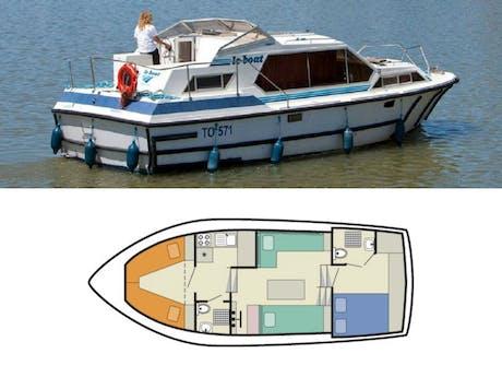 plattegrond en foto Tamaris Lake Star le Boat