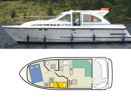 plattegrond en foto Mountain Star Le Boat