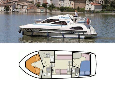 plattegrond en foto Consul Le Boat