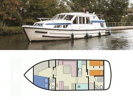 plattegrond en foto Corvette A le boat