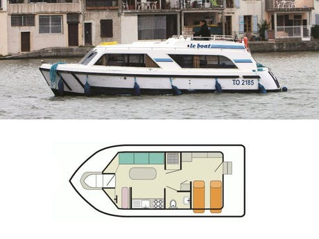 plattegrond en foto Cirrus A Le Boat