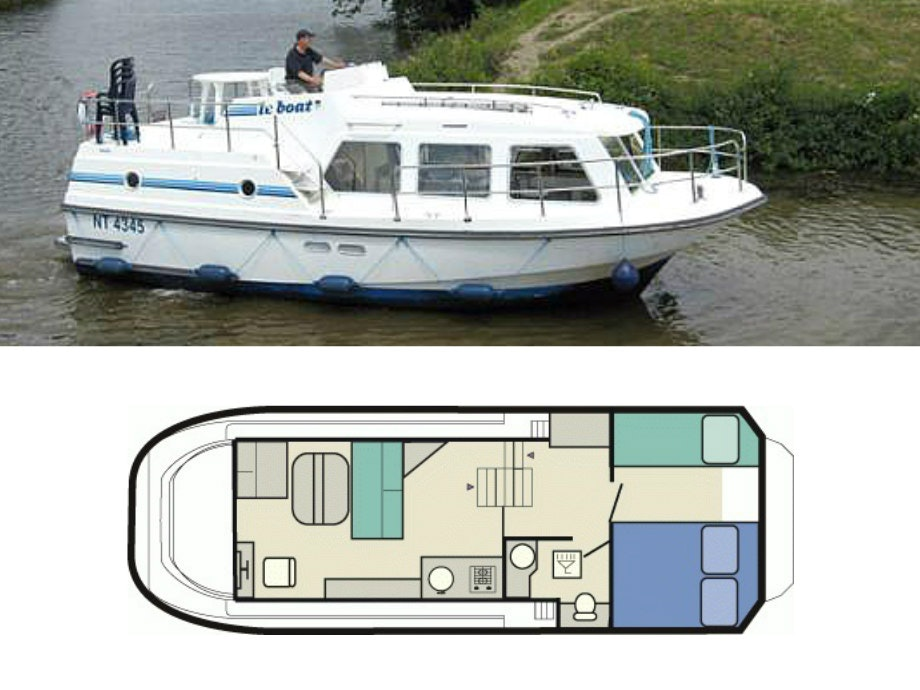 plattegrond en foto Sheba Le Boat
