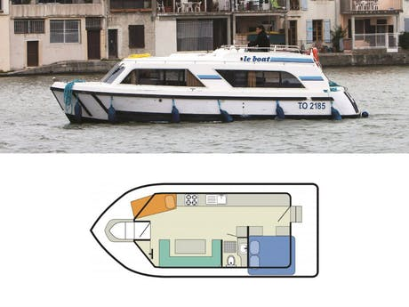 plattegrond en foto Cirrus B Le boat