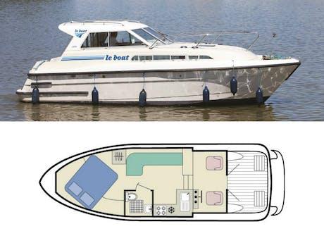 plattegrond en foto Capri Town Star Le Boat