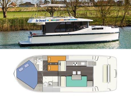 plattegrond en foto Horizon 2 Le Boat
