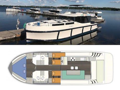 plattegrond en foto Horizon 3 Le Boat