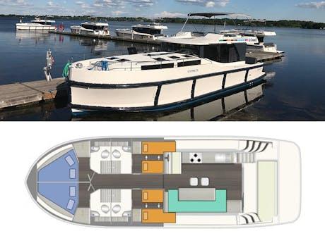 plattegrond en foto Horizon 4 Le Boat