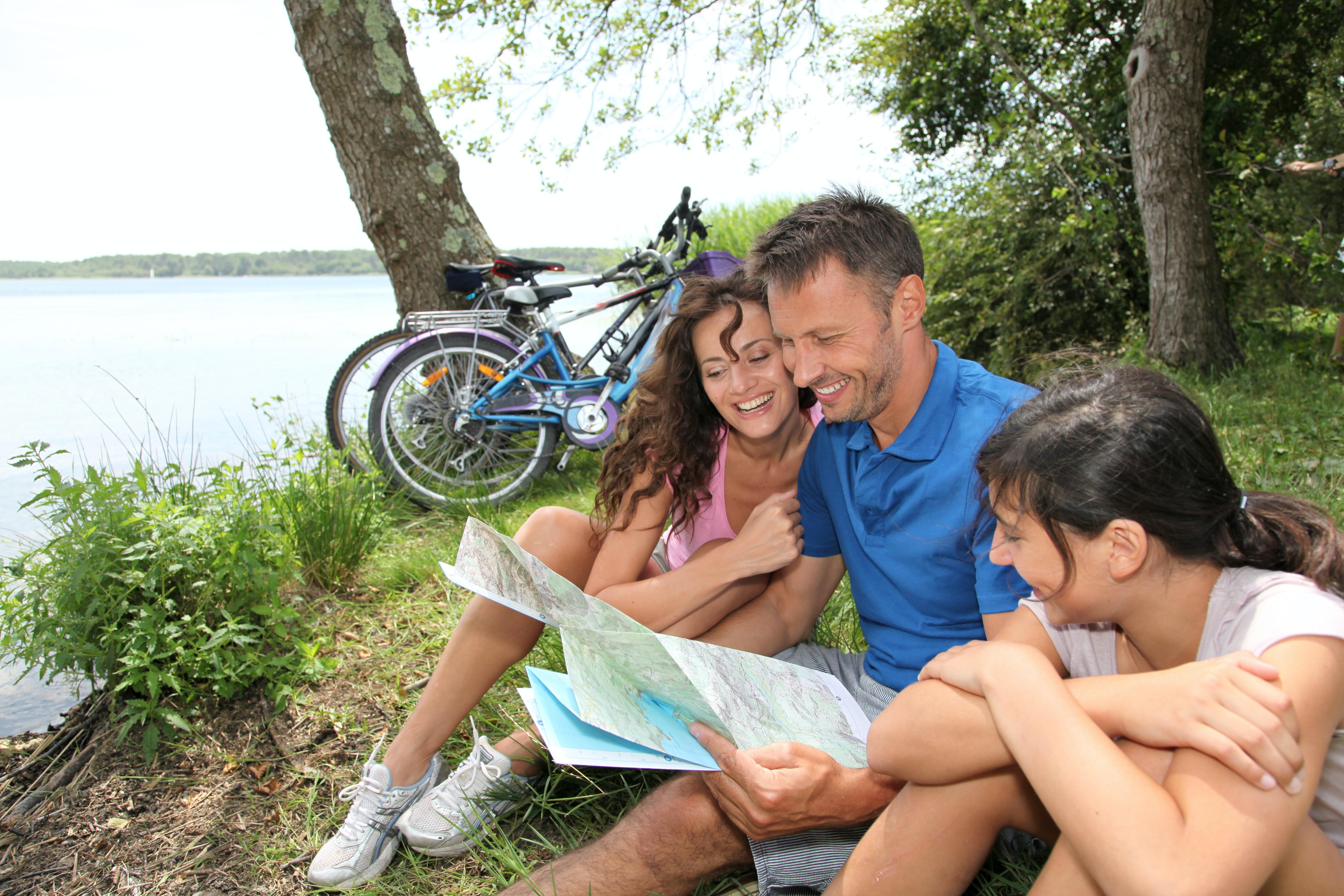 gezin met fietsvakantie