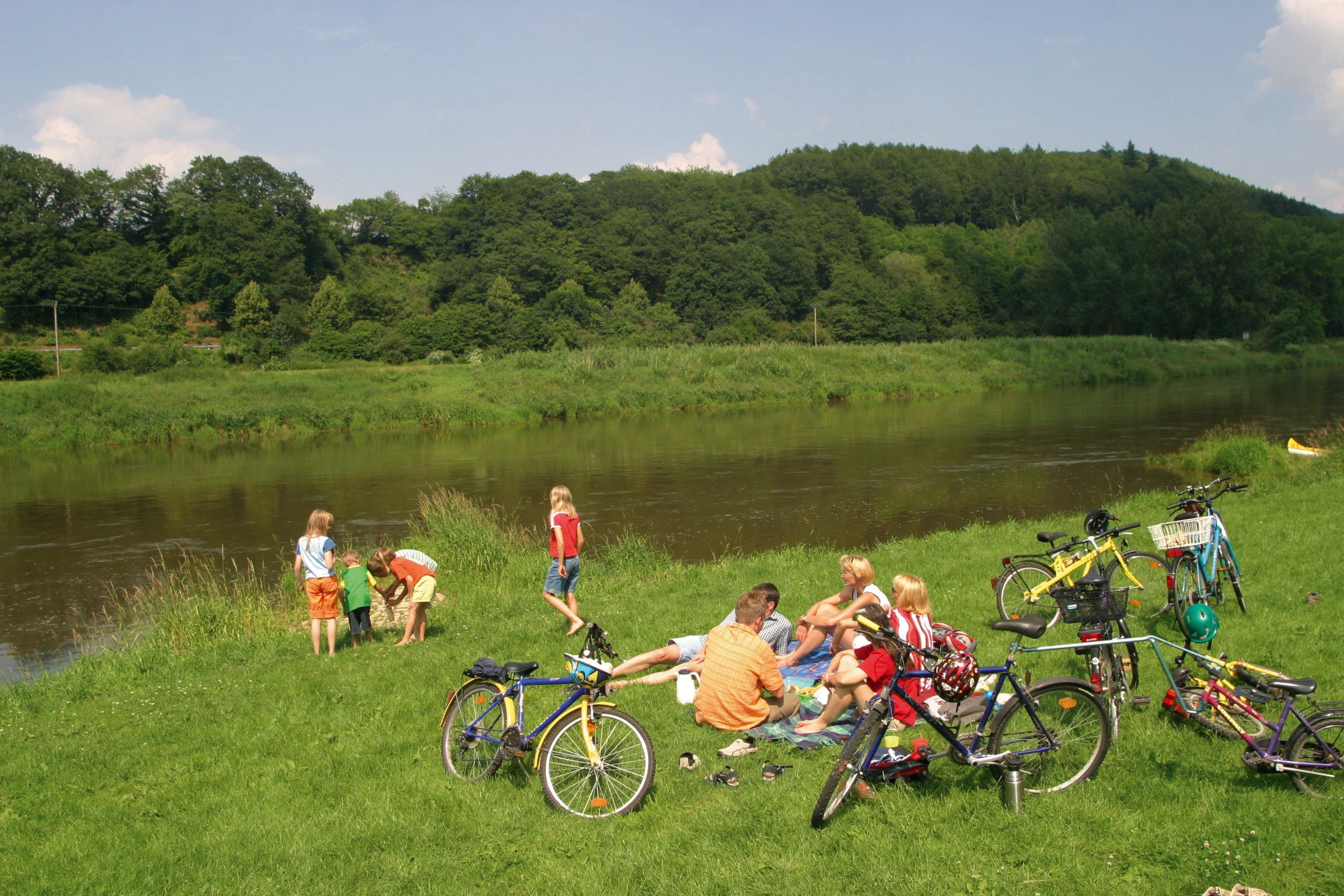 Weserradweg met het gezin