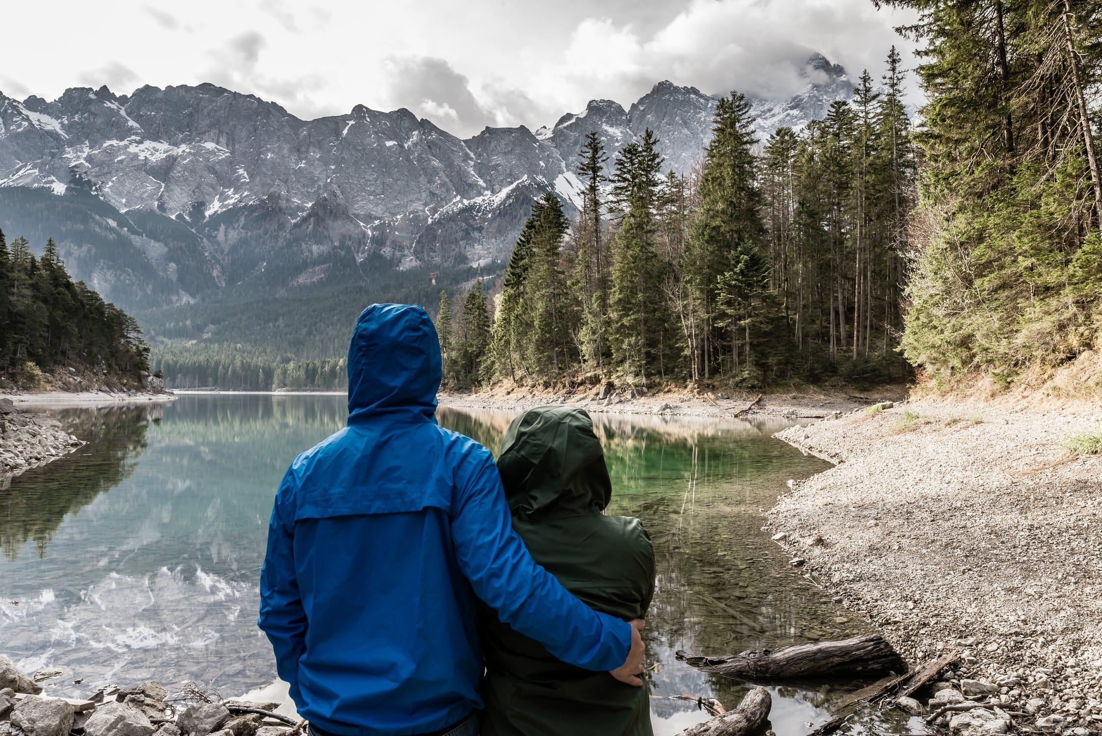 Bavarian national park mountain lake trees