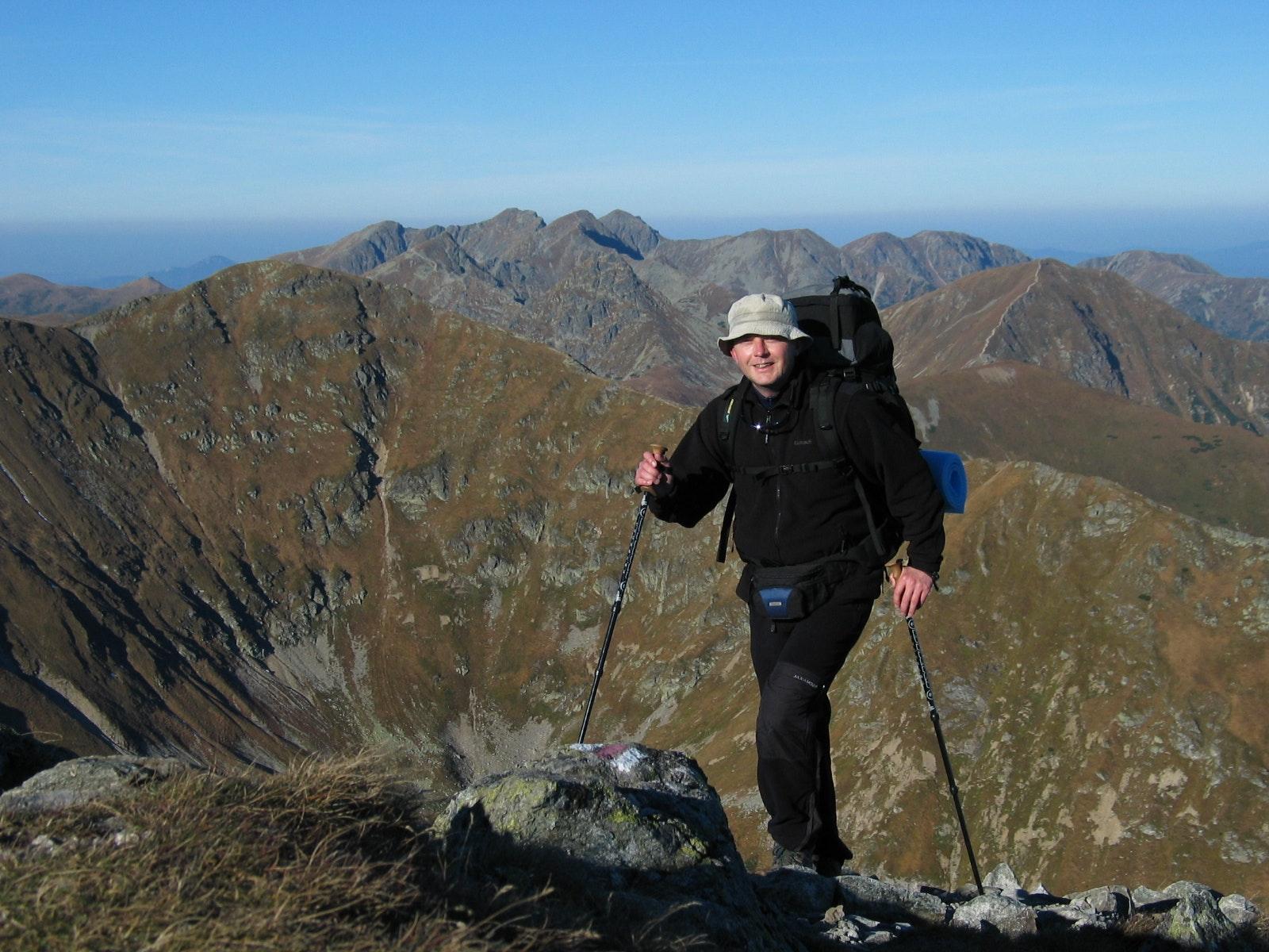 Polen wandelen Tatra gebergte bovenop