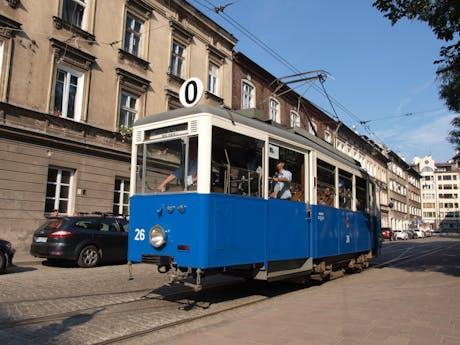 Krakau Polen de tram