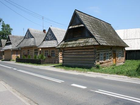 Polen typische houten huizen