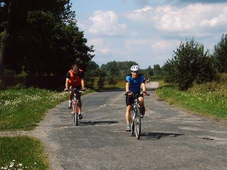 Fietsen sportief Polen onderweg