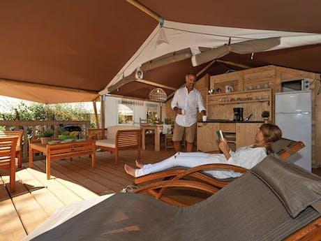Safaritent Olive veranda
