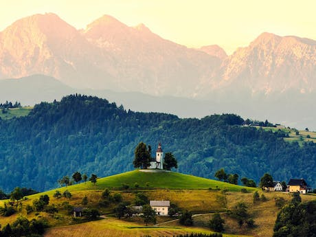slovenia mountain plains
