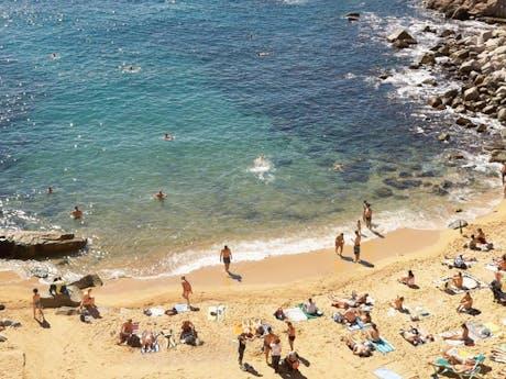 stranden bij regio's