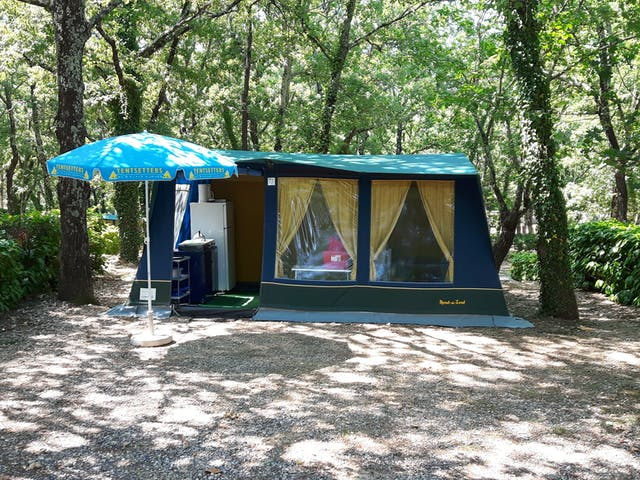 Bungalowtent Blue Camping Domaine de Labeiler
