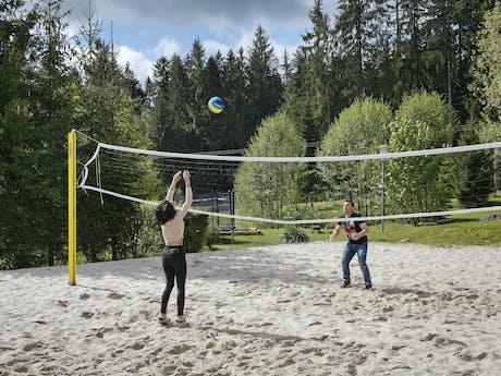 Camping Viechtach volleyballen