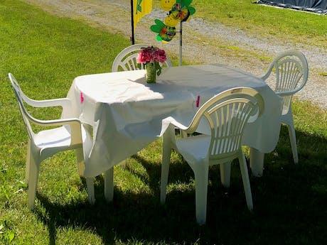 Camping Viechtach ontvangst Rent-a-Tent