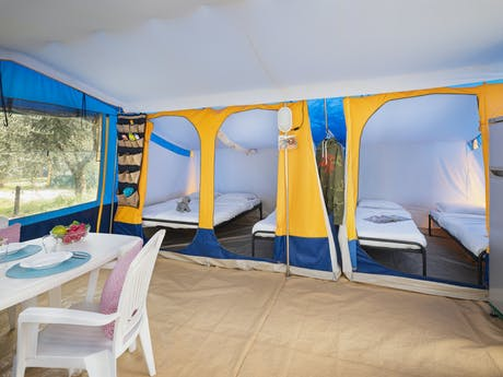 Bungalowtent Yellow interieur