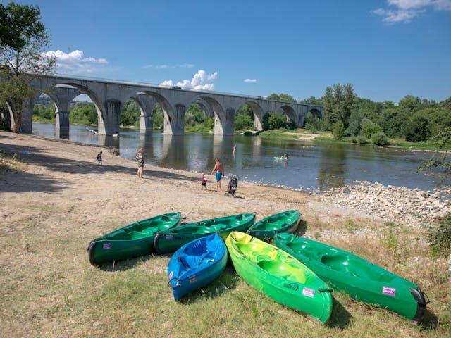 La Bastide en Ardeche rivier