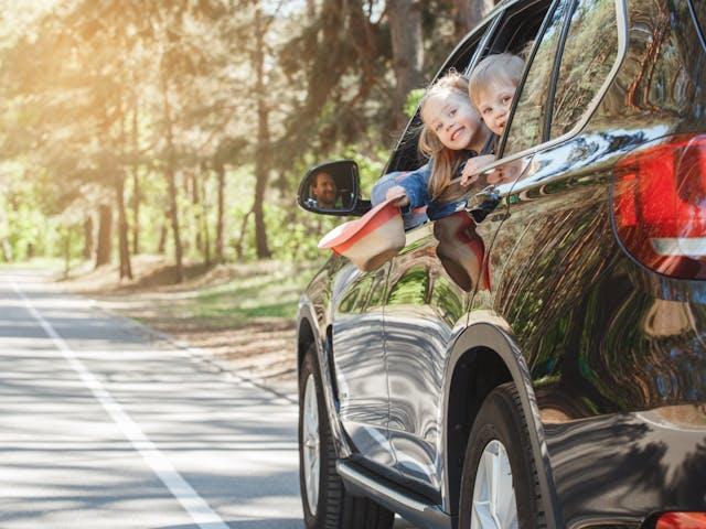 Stock - met de auto op vakantie