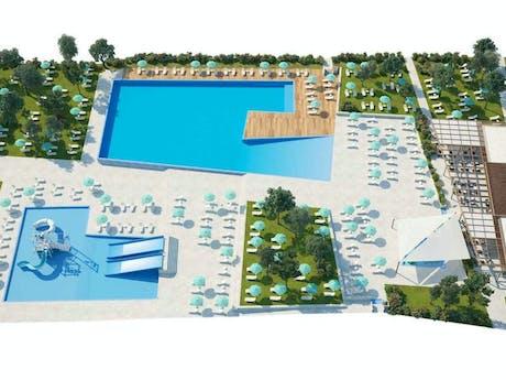 Nieuw zwembad Park Umag