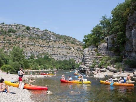 Kanoën camping Domaine de Labeiller