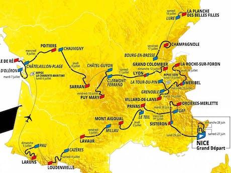 Route Tour de France 2020
