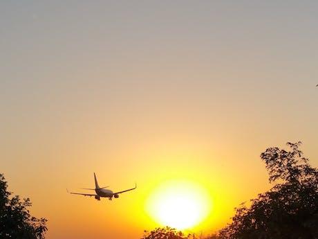 Op vakantie met het vliegtuig