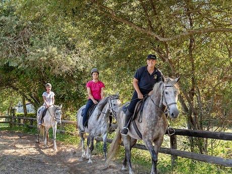 Paardrijden op camping Le Col Vert