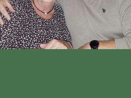 Ploegleider Dick en echtgenote Wil Jansen