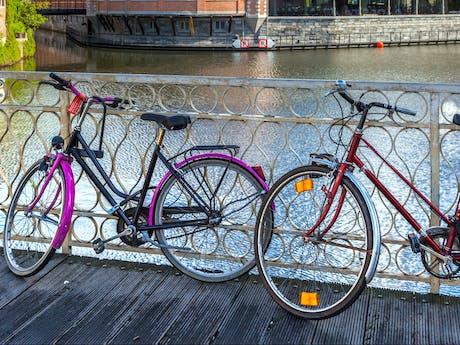op de fiets in Gent