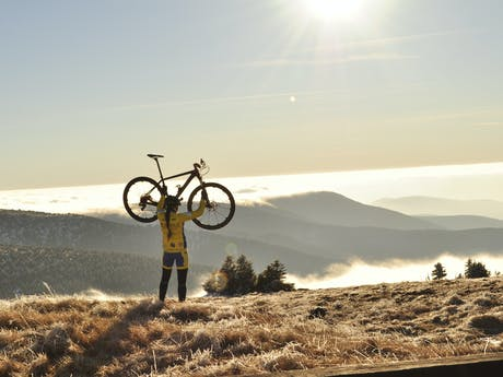 fietsen in de bergen