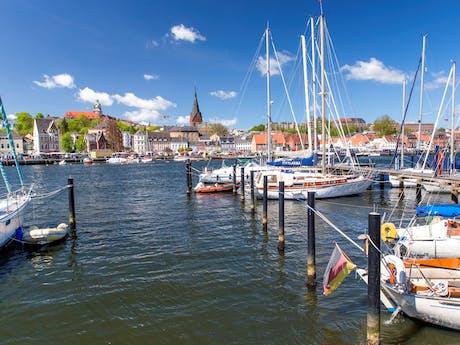 Haven Flensburg Duitsland Oostzee