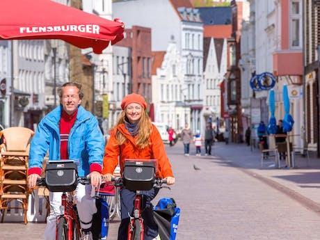 Duitsland Flensburg Oostzee fietsers