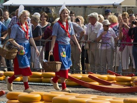 Kaasmarkt Alkmaar Nederland