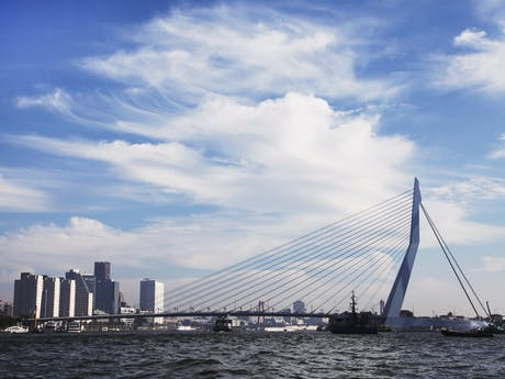 skyline Rotterdam Nederland
