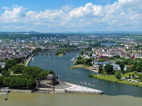 Koblenz  Deutsche Eck Rijn Duitsland