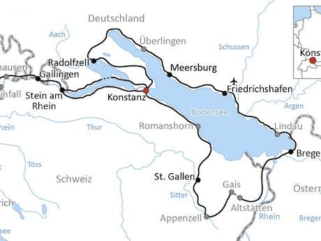 Kaart 12-daagse Bodensee