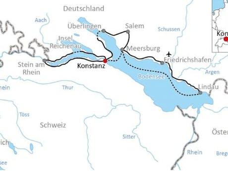 Kaart Bodensee standplaats